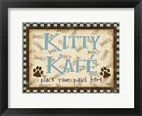 Framed Kitty Kafe Blue