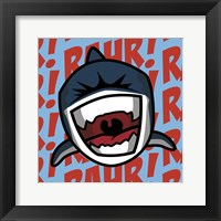 Framed Rahr! Shark