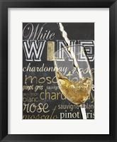 Framed Wine Glass White