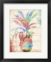 Framed Colorful Pineapple