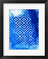 Framed Bright Blue Patterns