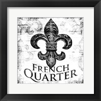 Framed French Quarters BW