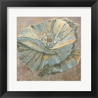 Framed Rian Withaar Blue Flower