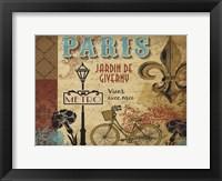 Framed Paris Series Garden 1