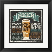 Framed Beer Humor