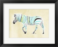 Framed Zebra Teal Greens