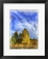 Framed Trees Watercolor Border
