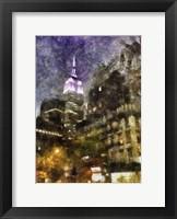 Framed Manhattan Painted