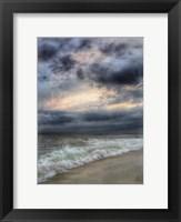 Framed Beach Sunset Watercolor Border