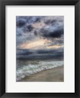 Framed Sunset Watercolor Black Splash Border