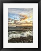 Framed Crashing Waves With Warm Sky