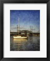 Framed Sailboat Painted With Border