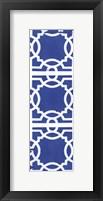 Framed Blue Pattern