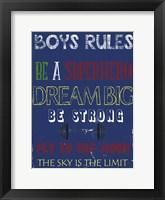 Framed Boys Rules 1