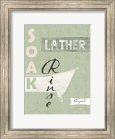 Framed Soak, Lather, Rinse, Repeat