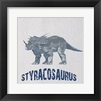 Framed Styracosaurus Dino