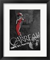 Framed Cafe Du Matin
