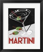 Framed Retro Martini Time