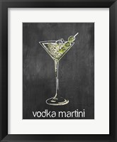 Vodka Martini Chalk Framed Print