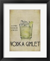 Vodka Gimlet Framed Print
