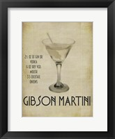 Framed Gibson Martini