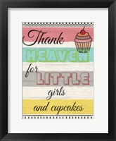 Framed Little Girls And Cupcakes