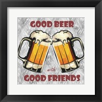 Framed Beer and Friends