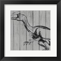 Framed Dino On Wood II