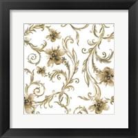 Flair Gold Framed Print