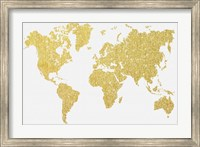 Framed Gold Map