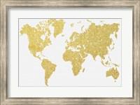 Framed Gold Map