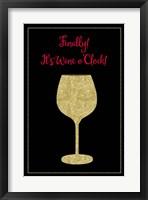 Framed Wine O Clock