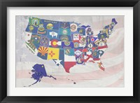 Framed US State Flags