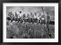 Framed New York Lunch Atop A Sky