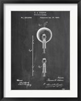 Framed Light Bulb Edison