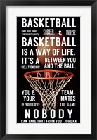 Framed Basketball is a Way of Life