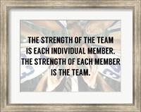 Framed Strength of the Team