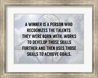 Framed God Given Talents