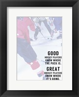 Framed Great Hockey Player