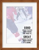 Framed Great Hockey Player