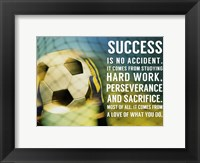 Framed Success Soccer Quote