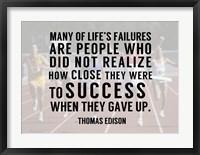 Framed Success - runners