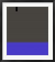 Abstract White Stripes Framed Print