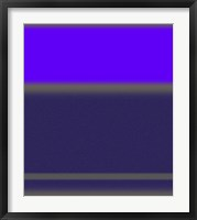 Framed Abstract Purple