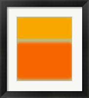Framed Abstract Orange & Yellow