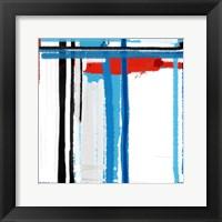 Framed Blue Strokes