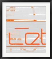 Let Framed Print