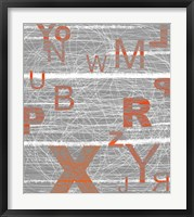 Numbers Orange Framed Print