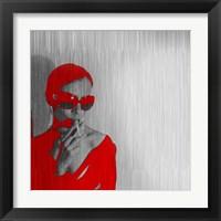 Framed Zoe In Red