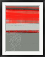 Framed Abstract Red 1